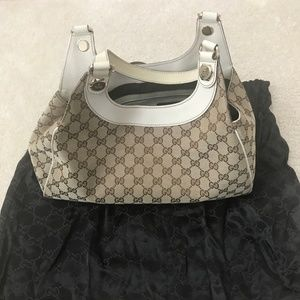 Authentic Gucci Shoulder Bag in Canvas
